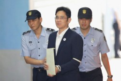 Lee Jae-yong is led to prison
