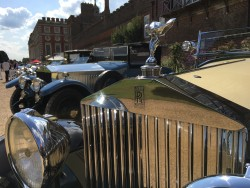 Rolls Royce motor cars on display at Concours of Elegance 2017