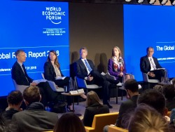 Press conference for the Global Risks Report 2018, launched by the World Economic Forum today.